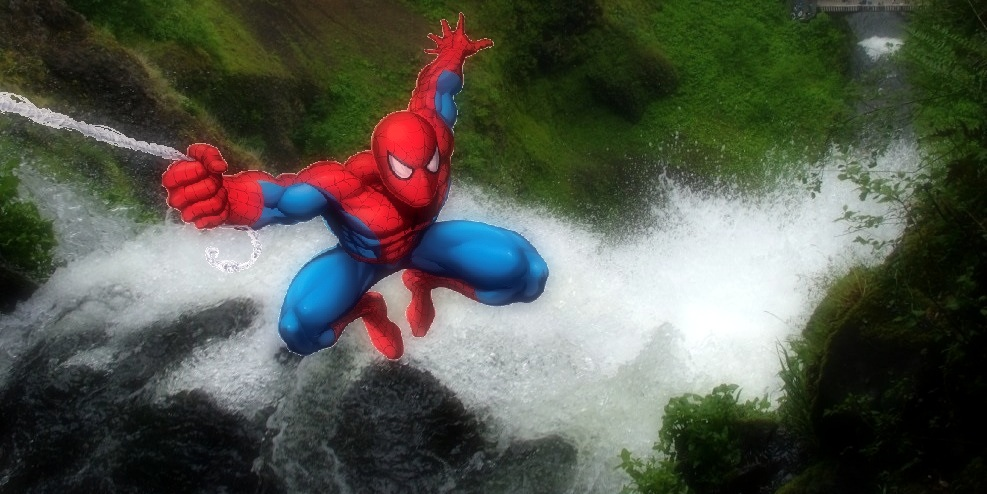 Waterfall Rappelling_Superhero