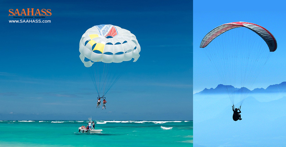 Paragliding and parasailing